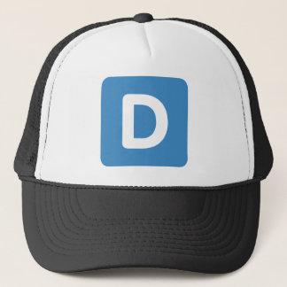 Letter D - emoji Twitter Trucker Hat