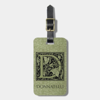 Letter D First Letter Monogram Luggage Tag