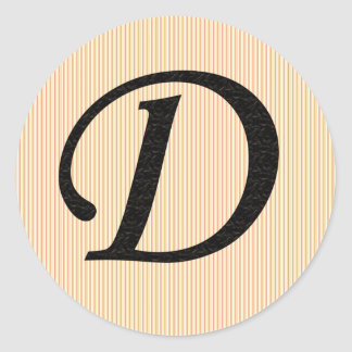 Letter D Monogramed Stickers