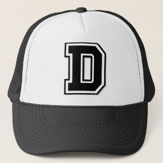 """Letter """"D"""" Trucker Hat"""