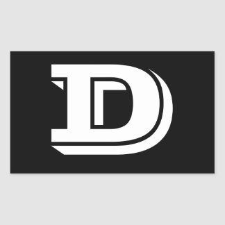 Letter D Vineta Font Black Stickers by Janz