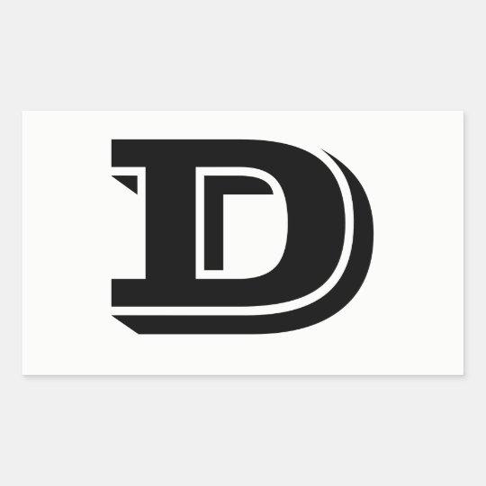 Letter D Vineta Font White Stickers by Janz