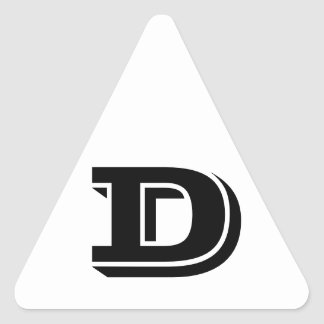 Letter D Vineta White Triangle Stickers by Janz