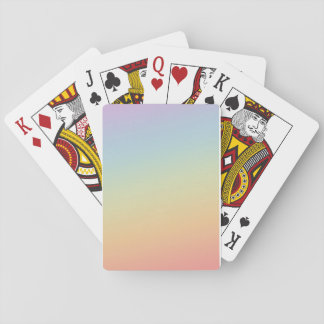 Letter deck gradient of colors poker deck