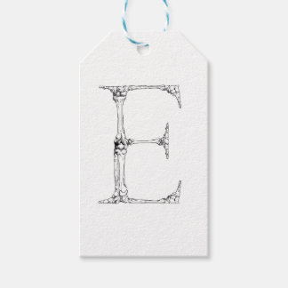 Letter E Bone Initial Gift Tags