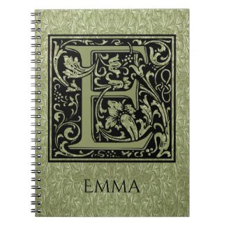 Letter E First Letter Monogram Notebook