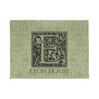 Letter E First Letter Monogram Personalized Doormat