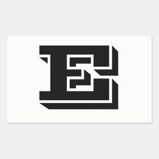 Letter E Vineta Font White Stickers by Janz