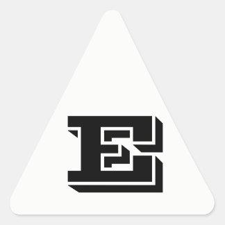 Letter E Vineta White Triangle Stickers by Janz