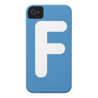 Letter F - emoji Twitter iPhone 4 Case-Mate Cases