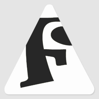 Letter F_large Triangle Sticker