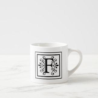 Letter F Monogram Espresso Mug