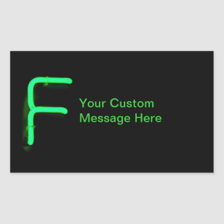 "Letter ""F"" Neon Light Monogram Sticker"