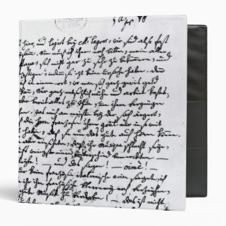 Letter from Mozart to his Father, 5th April Vinyl Binder
