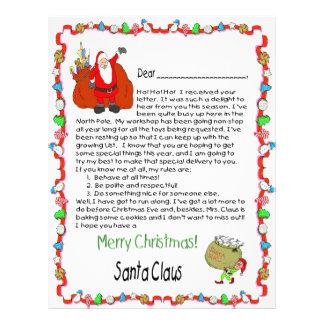 Letter from Santa Flyer