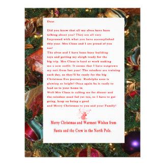 Letter from Santa Letterhead