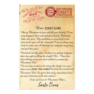 Letter From Santa | North Pole Letters Stationery