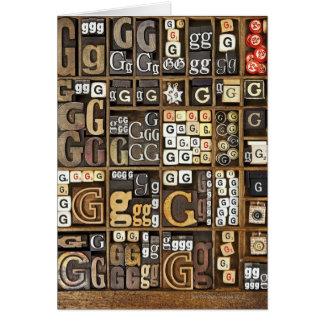 Letter G Card