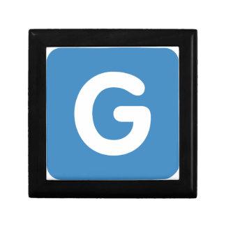 Letter G - emoji Twitter Gift Box