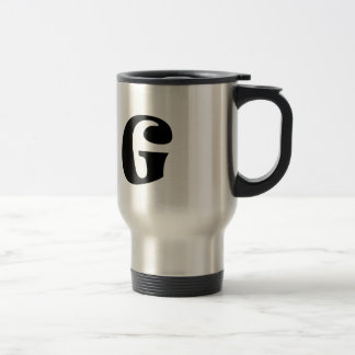 Letter G_large Travel Mug