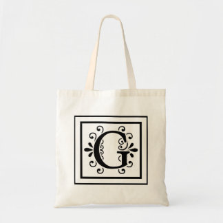 Letter G Monogram Tote Bag
