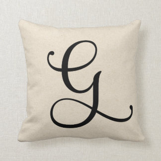 Letter G Throw Pillow