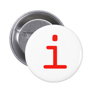 Letter i 2 inch round button