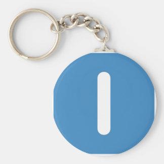 Letter I emoji Twitter Basic Round Button Keychain