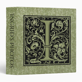 Letter I First Letter Monogram Binders