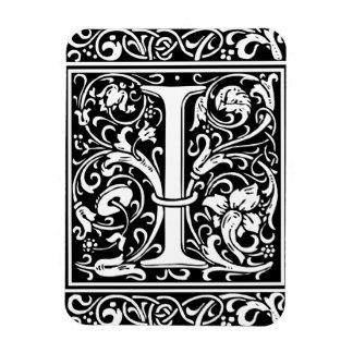 Letter I Medieval Monogram Vintage Initial Magnet