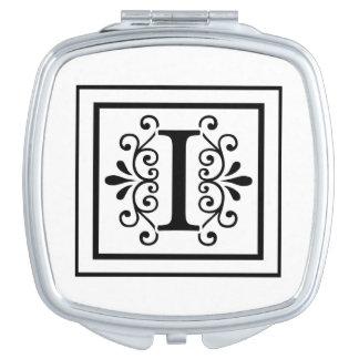 Letter I Monogram Mirrors For Makeup