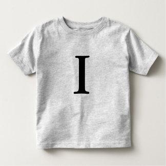 Letter I monogrammed initial t shirt