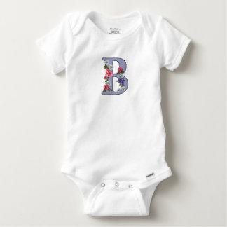 Letter, Initial, Monogram, B, Floral Art, Letter B Baby Onesie