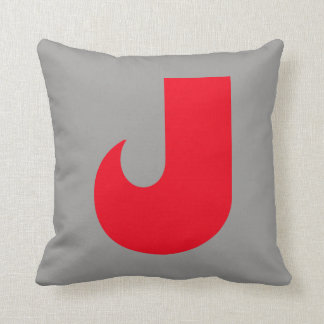 Letter J Design. Throw Pillow