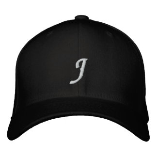 Letter J Embroidered Hats