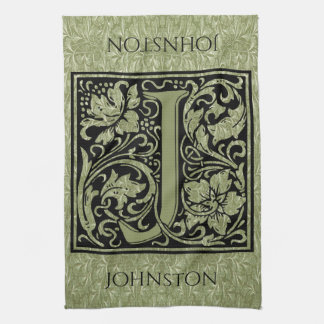 Letter J First Letter Monogram Personalized Hand Towel