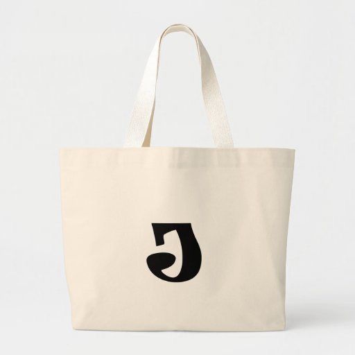 Letter J_large Tote Bags