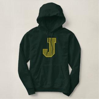 Letter J Light Fill Embroidered Hoody