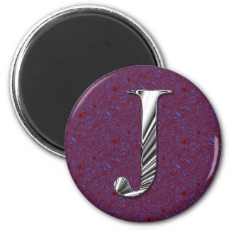 Letter J Monogram Magnet