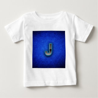 Letter J - neon blue edition Baby T-Shirt