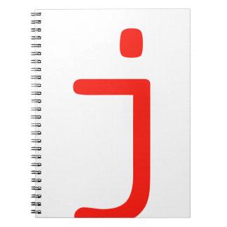 Letter j notebooks