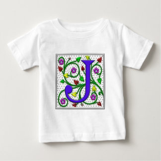 Letter J Ornamental II Print Baby T-Shirt