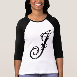 Letter J tee fashion graphic customized t-shirt