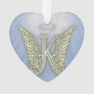 Letter K Angel Monogram Ornament