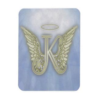 Letter K Angel Monogram Rectangular Photo Magnet