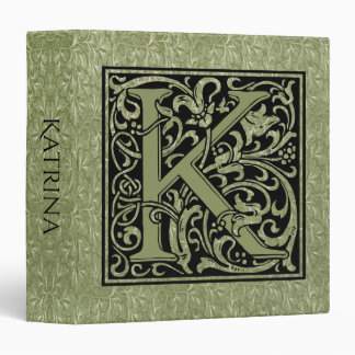 Letter K First Letter Monogram Vinyl Binder