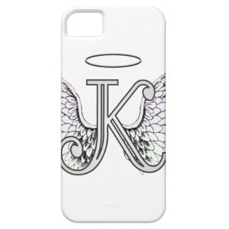 Letter K Initial Monogram with Angel Wings & Halo Case For The iPhone 5