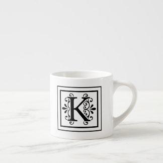 Letter K Monogram Espresso Mug