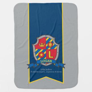Letter L Logan custom crest name meaning blanket Swaddle Blanket