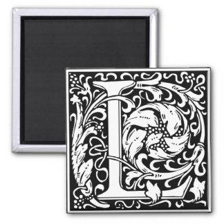 Letter L Medieval Monogram Vintage Initial Magnet
